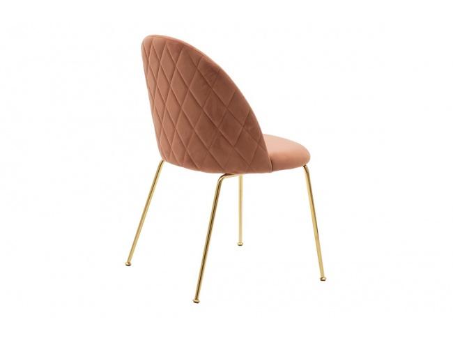 Καρέκλα Ruth  μεταλλική χρυσό gloss-βελούδο σάπιο μήλο 112-000017 - 9
