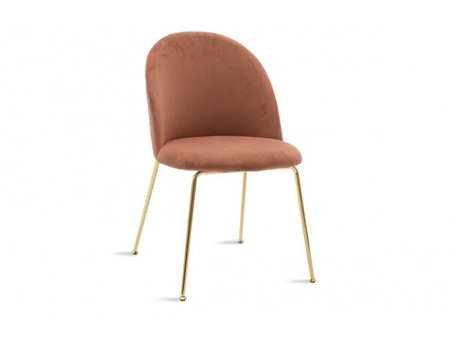 Καρέκλα Ruth  μεταλλική χρυσό gloss-βελούδο σάπιο μήλο 112-000017 - 1