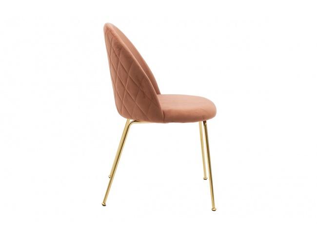Καρέκλα Ruth  μεταλλική χρυσό gloss-βελούδο σάπιο μήλο 112-000017 - 2