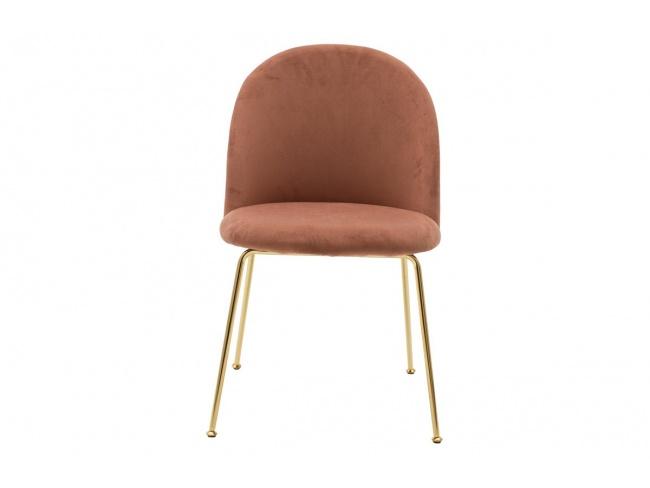 Καρέκλα Ruth  μεταλλική χρυσό gloss-βελούδο σάπιο μήλο 112-000017 - 3