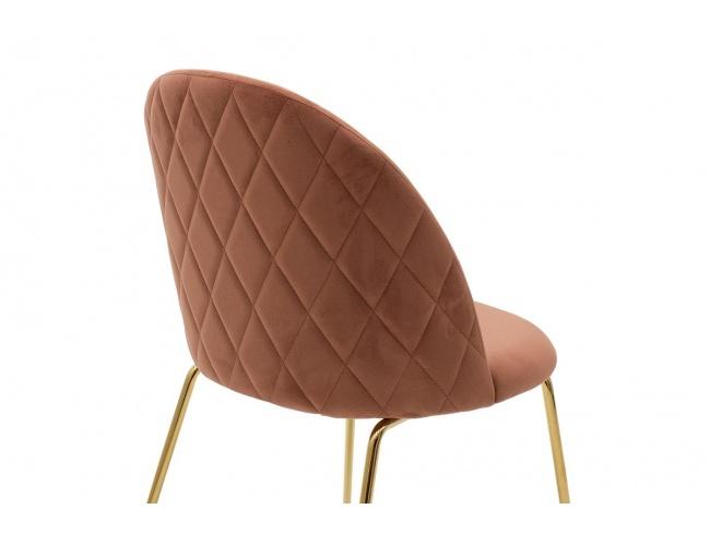 Καρέκλα Ruth  μεταλλική χρυσό gloss-βελούδο σάπιο μήλο 112-000017 - 4