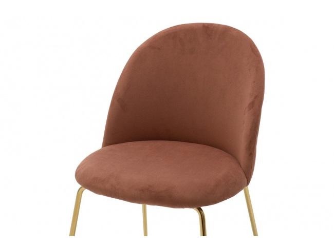 Καρέκλα Ruth  μεταλλική χρυσό gloss-βελούδο σάπιο μήλο 112-000017 - 5