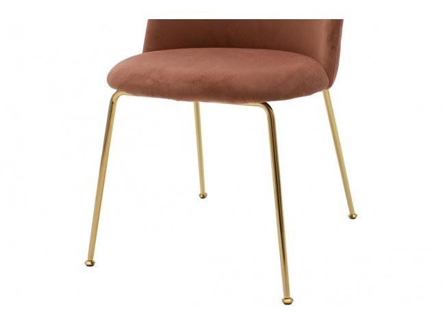 Καρέκλα Ruth  μεταλλική χρυσό gloss-βελούδο σάπιο μήλο 112-000017 - 6