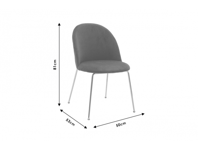 Καρέκλα Ruth  μεταλλική χρυσό gloss-βελούδο σάπιο μήλο 112-000017 - 7