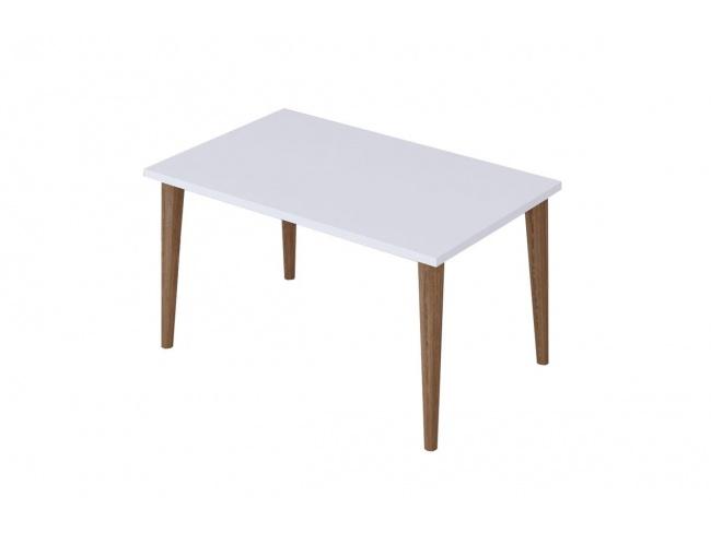 Τραπέζι σαλονιού Zahar λευκό-καφέ 72x45x42εκ  120-000133 - 1