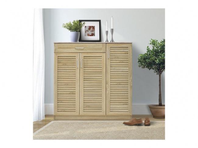 Παπουτσοθήκη-ντουλάπι SANTE 30 ζεύγων χρώμα sonoma 120x37x123 εκ.  123-000003 - 1