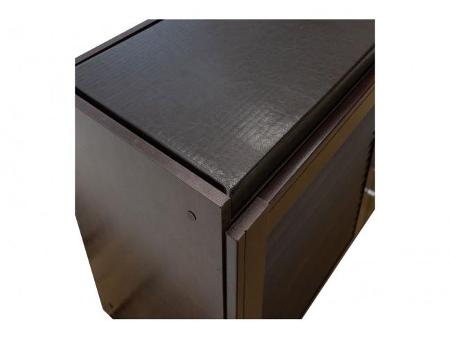 Παπουτσοθήκη-Σκαμπό Crispy 9 ζεύγων χρώμα σκούρο καρυδί με μαξιλάρι 94x34,5x60εκ 123-000140 - 4