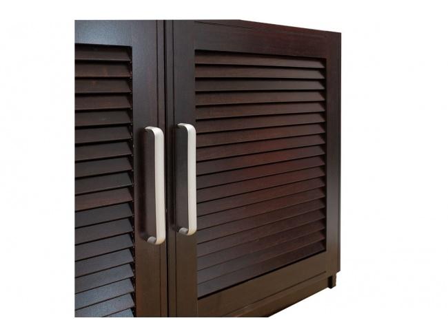 Παπουτσοθήκη-Σκαμπό Crispy 9 ζεύγων χρώμα σκούρο καρυδί με μαξιλάρι 94x34,5x60εκ 123-000140 - 5