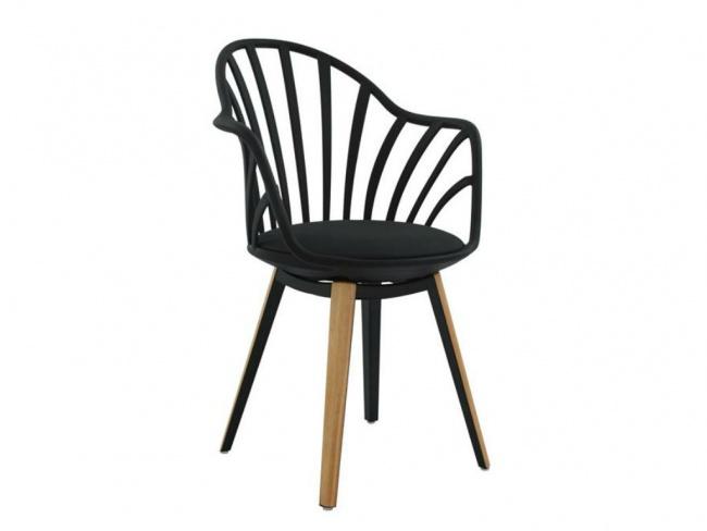Καρέκλα ANAIS σε μαύρο χρώμα HM8049.02 - 1