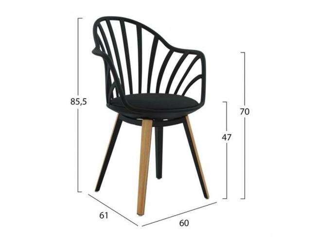 Καρέκλα ANAIS σε μαύρο χρώμα HM8049.02 - 2
