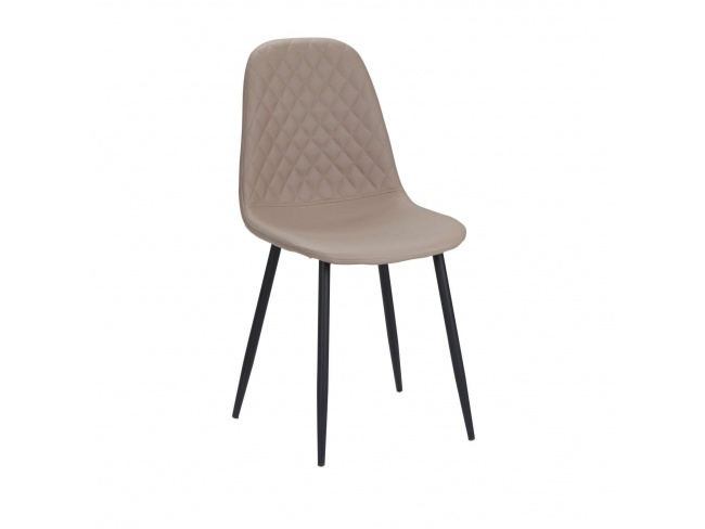 Καρέκλα με μεταλλική βάση ηλεκτροστατικής βαφής και κάθισμα επενδεδυμένο με τεχνόδερμα PU.300-031 - 1