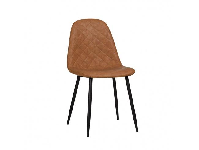 Καρέκλα με μεταλλική βάση ηλεκτροστατικής βαφής και κάθισμα επενδεδυμένο με τεχνόδερμα PU.300-033 - 1