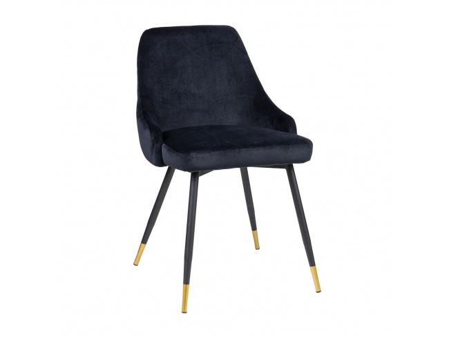 Καρέκλα με μεταλλική βάση ηλεκτροστατικής βαφής και κάθισμα επενδεδυμένο με Velvet ύφασμα. 300-076 - 1