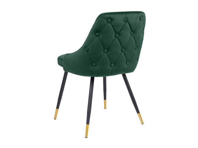 Καρέκλα με μεταλλική βάση ηλεκτροστατικής βαφής και κάθισμα επενδεδυμένο με Velvet ύφασμα. 300-081 - 2