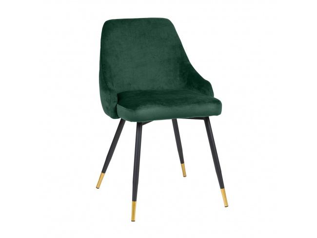 Καρέκλα με μεταλλική βάση ηλεκτροστατικής βαφής και κάθισμα επενδεδυμένο με Velvet ύφασμα. 300-081 - 1