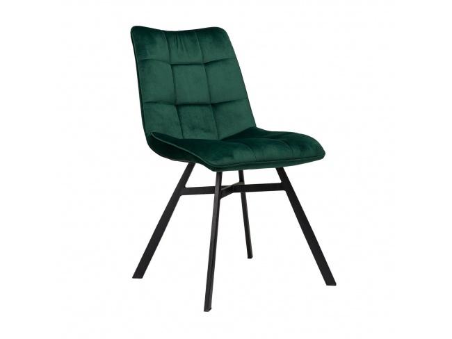 Καρέκλα επενδεδυμένη με Velvet ύφασμα και μεταλλικό σκελετό. 300-234 - 1