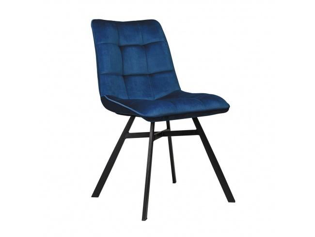 Καρέκλα επενδεδυμένη με Velvet ύφασμα και μεταλλικό σκελετό. 300-235 - 1