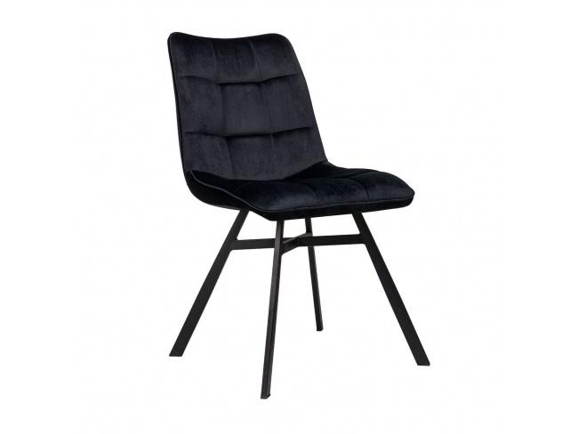 Καρέκλα επενδεδυμένη με Velvet ύφασμα και μεταλλικό σκελετό. 300-236 - 1