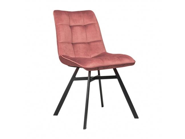 Καρέκλα επενδεδυμένη με Velvet ύφασμα και μεταλλικό σκελετό. 300-237 - 1