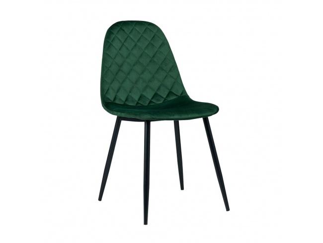 Καρέκλα με μεταλλική βάση ηλεκτροστατικής βαφής και κάθισμα επενδεδυμένο με Velvet ύφασμα.300-254 - 1