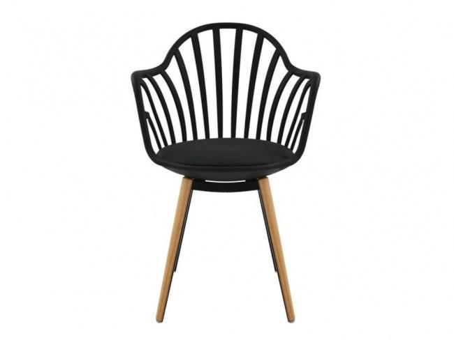 Καρέκλα ANAIS σε μαύρο χρώμα HM8049.02 - 3