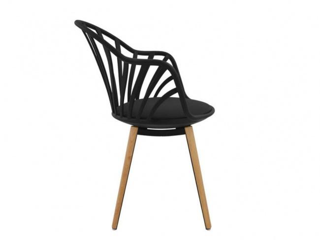 Καρέκλα ANAIS σε μαύρο χρώμα HM8049.02 - 4