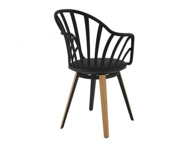 Καρέκλα ANAIS σε μαύρο χρώμα HM8049.02 - 5