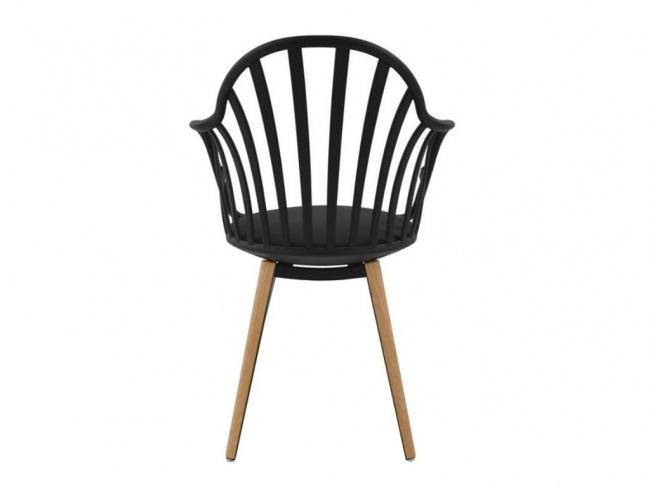 Καρέκλα ANAIS σε μαύρο χρώμα HM8049.02 - 6