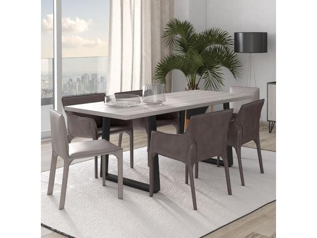 Τραπέζι τραπεζαρίας Ναυσικά  μεταλλ. πόδι Dining table Nausicaa metal leg 78x200x100   11422002 - 2