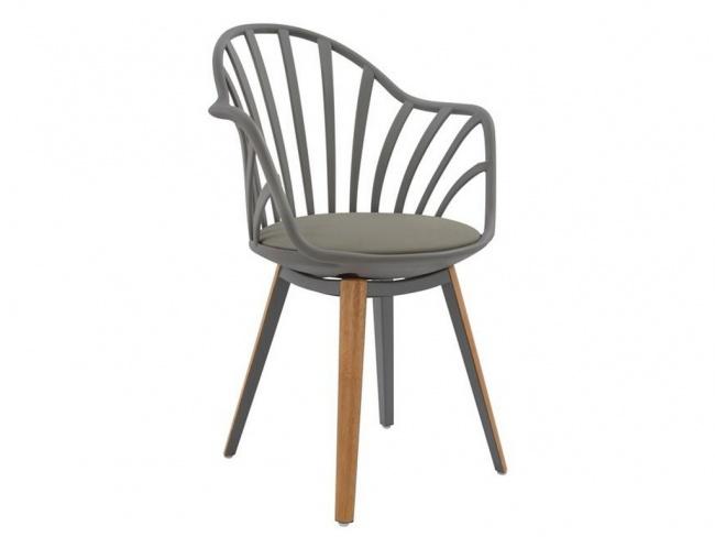 Καρέκλα ANAIS σε γκρι χρώμα HM8049.10 - 1