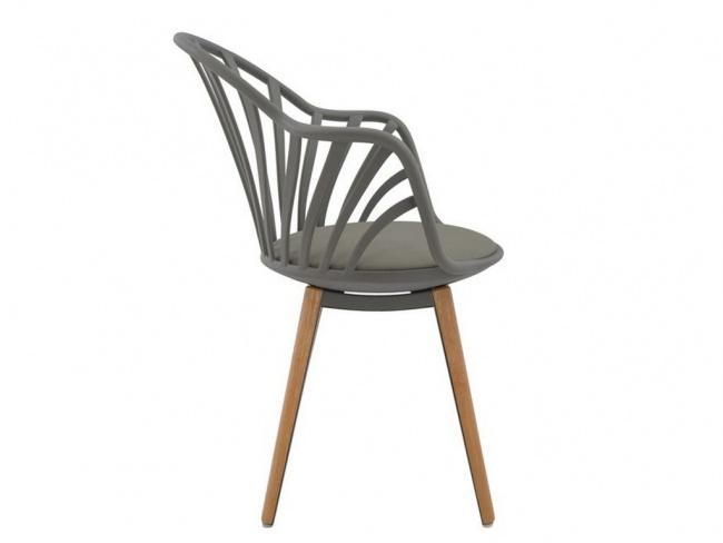 Καρέκλα ANAIS σε γκρι χρώμα HM8049.10 - 4