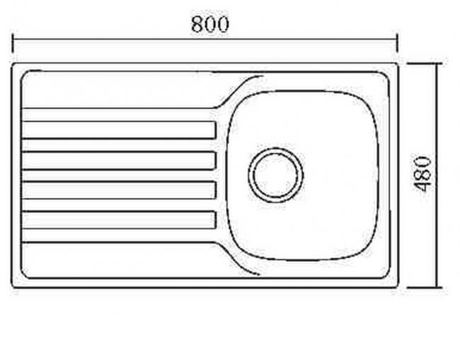 Karag BL 834  Ένθετος Νεροχύτης INOX 80x48cm + (Βαλβίδες-σιφώνια) - 2