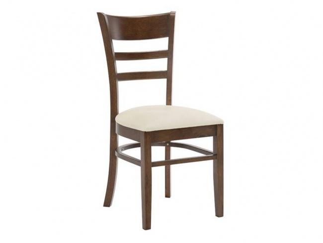 CABIN καρέκλα Καρυδί/PVC Εκρού E7055