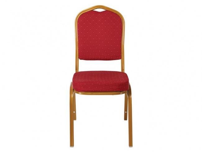 HILTON Καρέκλα Μεταλλική Gold/Ύφασμα Κόκκινο 44x55x93 εκ.  ΕΜ513
