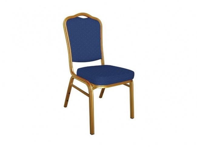 HILTON Καρέκλα Μεταλλική Gold/Ύφασμα Μπλε 44x55x93 εκ.  ΕΜ513,2
