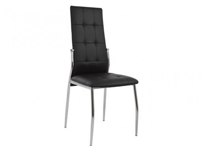 Καρέκλα PILAR HM0176.02 ΜΑΥΡΟ - 1