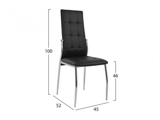 Καρέκλα PILAR HM0176.02 ΜΑΥΡΟ - 2