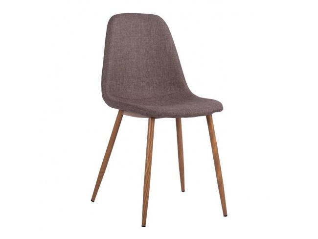 Καρέκλα LEONARDO HM00100.03 με μεταλλικά πόδια & ύφασμα καφέ - 1