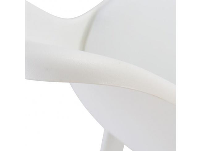 ΚΑΡΕΚΛΑ VEGAS HM0033.31 ΜΕ ΠΟΔΙΑ ΠΟΛΥΠΡΟΠΥΛΕΝΙΟΥ ΚΑΙ ΚΑΘΙΣΜΑ PP ΛΕΥΚΟ 47,5x55x82 εκ. - 7