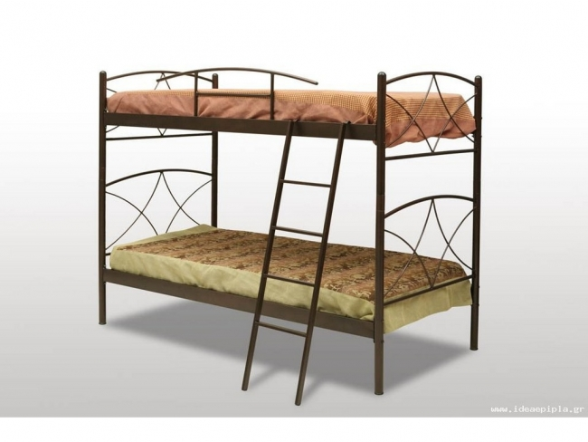 Μεταλλικό Κρεβάτι Κουκέτα Άνδρος 90χ190