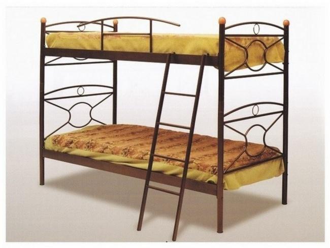 Μεταλλικό Κρεβάτι Κουκέτα Κρίκος 110x190 - 1