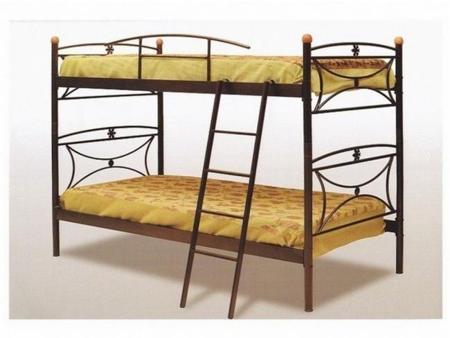 Μεταλλικό Κρεβάτι Κουκέτα Mαργαρίτα 110x190