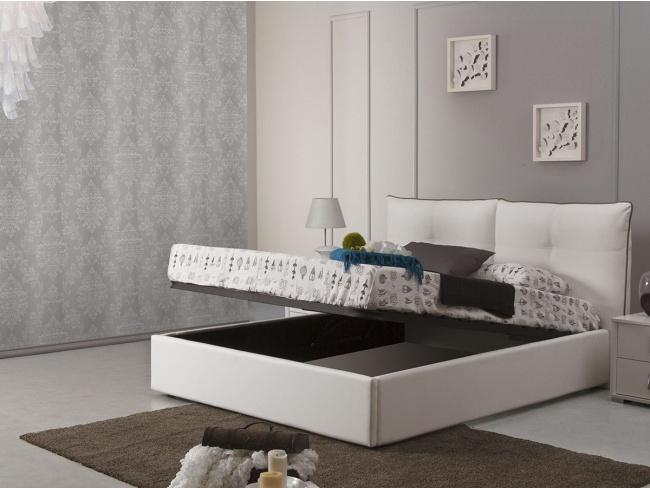 Κρεβάτι με ύφασμα Monica  υπέρδιπλο με μηχανισμό αποθηκευτικού χώρου 160x200 - 1