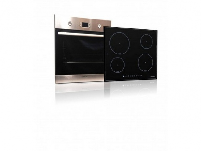 Davoline Set OBL 8000 Inox Φούρνος + IND 7204 Κεραμική Επαγωγική Εστία Αφής