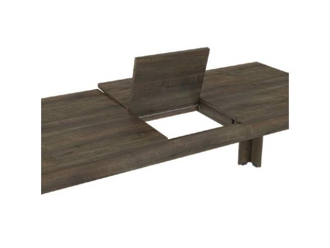 Τραπέζι τραπ/ρίας με φύλλο  πόδι γωνία Dining table angle leg 77x150x90+42  11421514 - 2