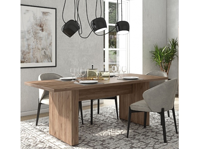 Τραπέζι τραπεζαρίας Νεφέλη Dining table Nephele 78x200x10  11422001 - 2