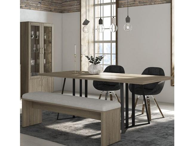 Τραπέζι τραπεζαρίας Άρτεμις μεταλλ. πόδι Dining table Artemis metal leg 78x200x100  11422003 - 2