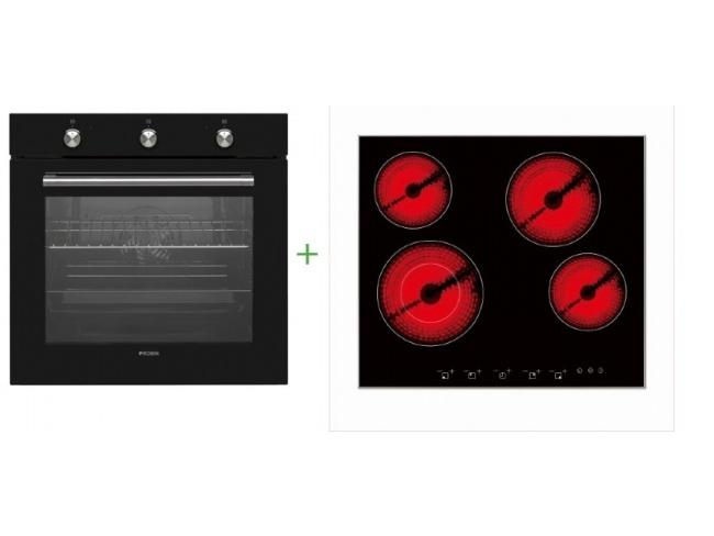 Σετ Εντοιχιζόμενος Φούρνος 78lt με Κεραμική Εστία 5 θέσεων  BYFAR- SB-60/SB-30 - 1
